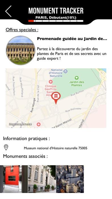Application mobile Monument Tracker un guide touristique dans votre poche