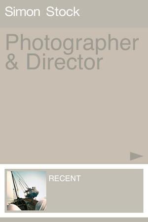 Application book photo iOS Simon Stock
