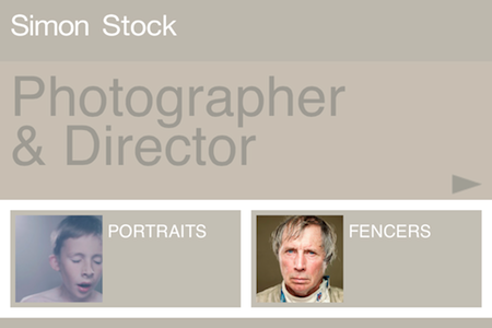 Portfolio photo pour iPad