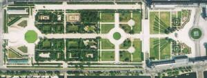 Vue aérienne du Jardin des Tuileries