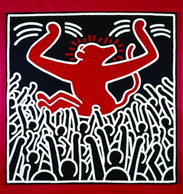 Peinture de l'artiste Keith Haring