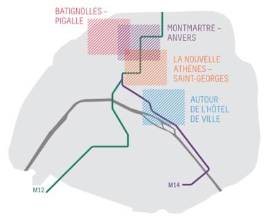 Plan de Paris pour la nuit blanche 2011