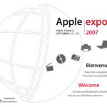 Apple expo : 25-29 septembre 2007